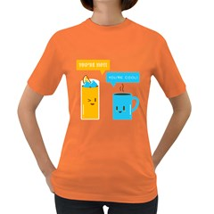 Hot and Cool Women s T-shirt (Colored)