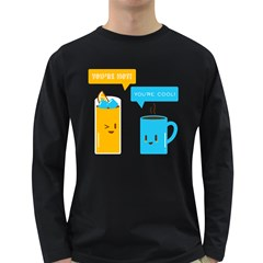 Hot And Cool Men s Long Sleeve T Shirt (dark Colored)