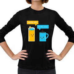 Hot and Cool Women s Long Sleeve T-shirt (Dark Colored)