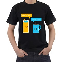 Hot And Cool Men s T Shirt (black)