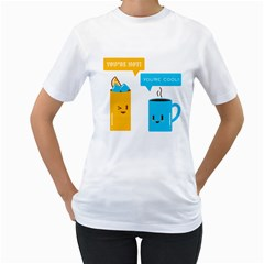 Hot And Cool Women s T Shirt (white)