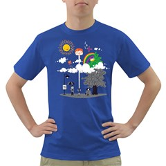 Head in the Clouds Men s T-shirt (Colored)