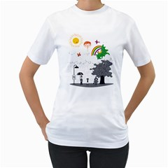 Head in the Clouds Women s T-Shirt (White)