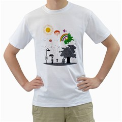Head in the Clouds Men s T-Shirt (White)