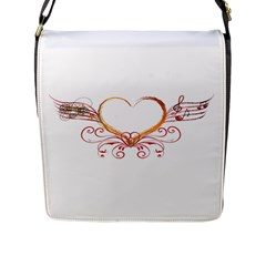 Love Music Flap Closure Messenger Bag (large)