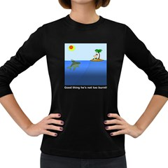 Lunch Time Women s Long Sleeve T Shirt (dark Colored)