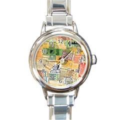 Retro Concert Tickets Round Italian Charm Watch