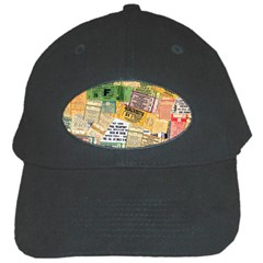 Retro Concert Tickets Black Baseball Cap