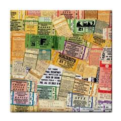 Retro Concert Tickets Ceramic Tile