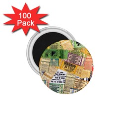 Retro Concert Tickets 1.75  Button Magnet (100 pack)