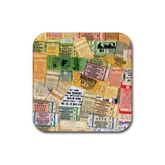 Retro Concert Tickets Drink Coasters 4 Pack (Square)