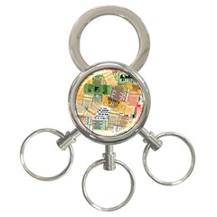 Retro Concert Tickets 3 Ring Key Chain