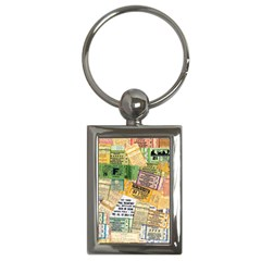 Retro Concert Tickets Key Chain (Rectangle)