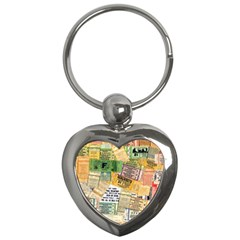 Retro Concert Tickets Key Chain (Heart)