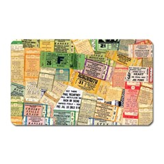 Retro Concert Tickets Magnet (rectangular)