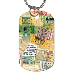 Retro Concert Tickets Dog Tag (One Sided)