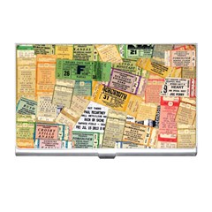 Retro Concert Tickets Business Card Holder