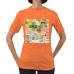Retro Concert Tickets Women s T-shirt (Colored)