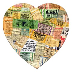 Retro Concert Tickets Jigsaw Puzzle (Heart)