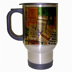 Retro Concert Tickets Travel Mug (silver Gray)