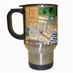 Retro Concert Tickets Travel Mug (white)