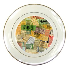 Retro Concert Tickets Porcelain Display Plate