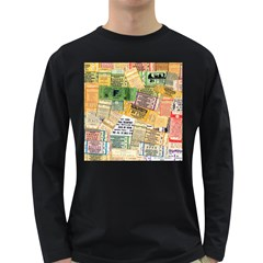 Retro Concert Tickets Men s Long Sleeve T-shirt (Dark Colored)