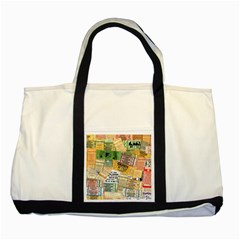 Retro Concert Tickets Two Toned Tote Bag