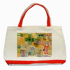Retro Concert Tickets Classic Tote Bag (Red)