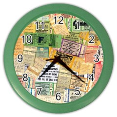 Retro Concert Tickets Wall Clock (color)
