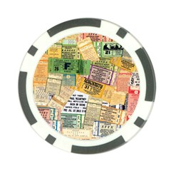 Retro Concert Tickets Poker Chip