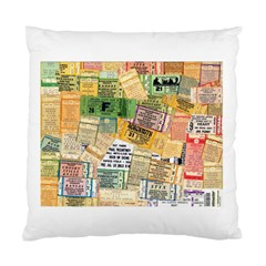 Retro Concert Tickets Cushion Case (Single Sided)