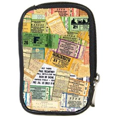 Retro Concert Tickets Compact Camera Leather Case
