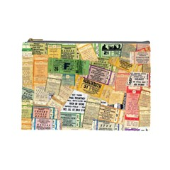 Retro Concert Tickets Cosmetic Bag (Large)