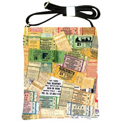 Retro Concert Tickets Shoulder Sling Bag
