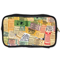 Retro Concert Tickets Travel Toiletry Bag (one Side)