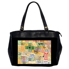 Retro Concert Tickets Oversize Office Handbag (two Sides)