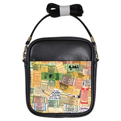 Retro Concert Tickets Girl s Sling Bag