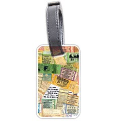Retro Concert Tickets Luggage Tag (one Side)