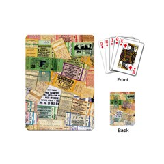 Retro Concert Tickets Playing Cards (Mini)