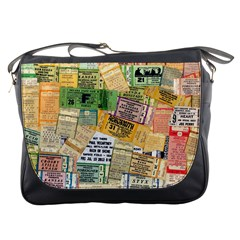 Retro Concert Tickets Messenger Bag