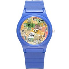 Retro Concert Tickets Plastic Sport Watch (Small)