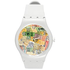 Retro Concert Tickets Plastic Sport Watch (Medium)