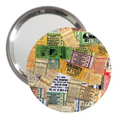 Retro Concert Tickets 3  Handbag Mirror
