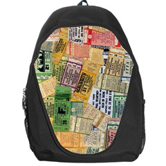 Retro Concert Tickets Backpack Bag