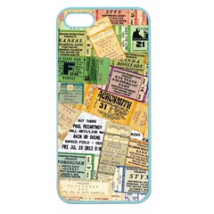 Retro Concert Tickets Apple Seamless Iphone 5 Case (color)