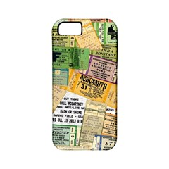 Retro Concert Tickets Apple Iphone 5 Classic Hardshell Case (pc+silicone)