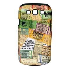 Retro Concert Tickets Samsung Galaxy S Iii Classic Hardshell Case (pc+silicone)