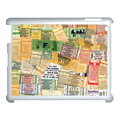 Retro Concert Tickets Apple iPad 3/4 Case (White)