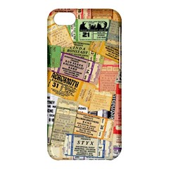 Retro Concert Tickets Apple iPhone 5C Hardshell Case